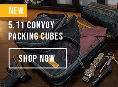image of new 5.11 convoy packing cubes in three different sizes