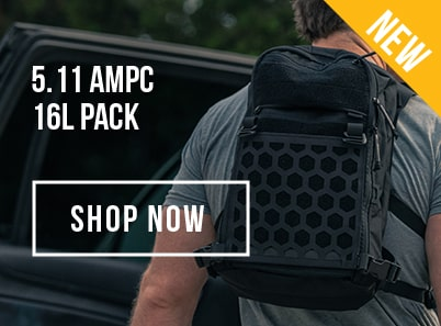 man wearing a 5.11 tactical dart 24 backpack