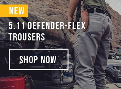 Man wearing 5.11 defender-flex trousers