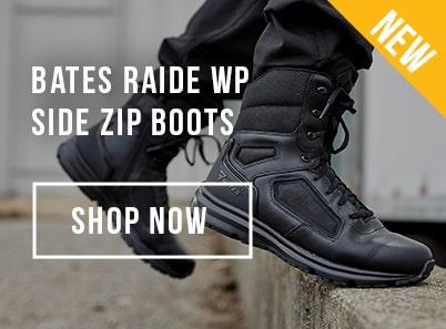 Image of Bates Raide Water Proof Side Zip Boots in black