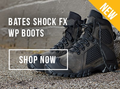 image of black pair of Bates Shock FX Waterproof Boots